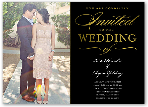 extravagant affair 5x7 wedding invitations shutterfly