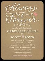 forever hearts wedding invitation 5x7 flat