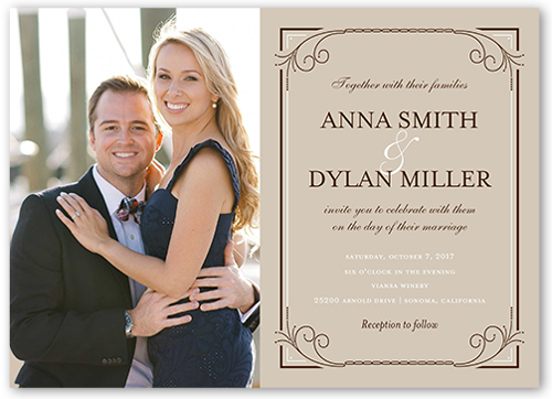 Wedding Invitation Picture Ideas: Classic Swirls 5x7 Wedding Invitations