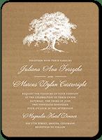 rustic statement wedding invitation 5x7 flat