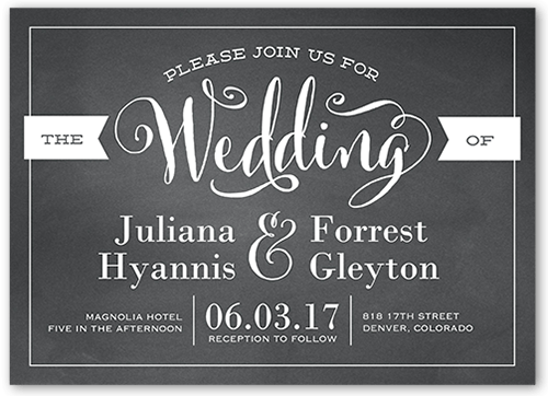 Charming Elegance Wedding Invitation, Square Corners