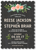 French Blue Ss Pearlized Soft Champagne Wedding Invitations