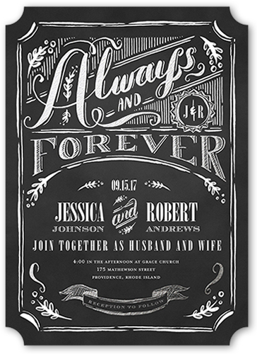 always forever wedding invitation - Shutterfly Wedding Invitations