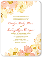 blooming forever wedding invitation 5x7 flat