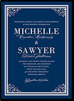 flourishing details wedding invitation 5x7 flat