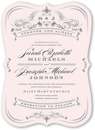 romantic details wedding invitation - Shutterfly Wedding Invitations