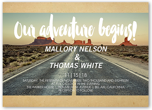 Our Adventure Wedding Invitations Shutterfly