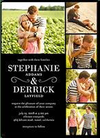 photo on photo wedding invitations shutterfly