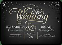 splendid statement wedding invitation 5x7 flat