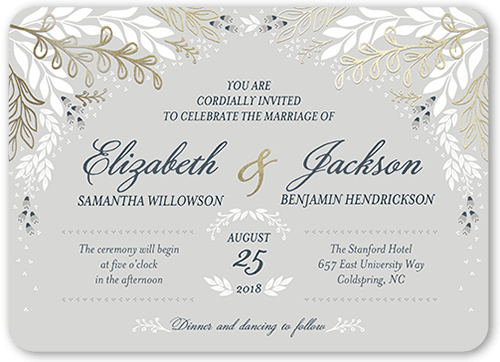 affectionate floral wedding invitation - Shutterfly Wedding Invitations
