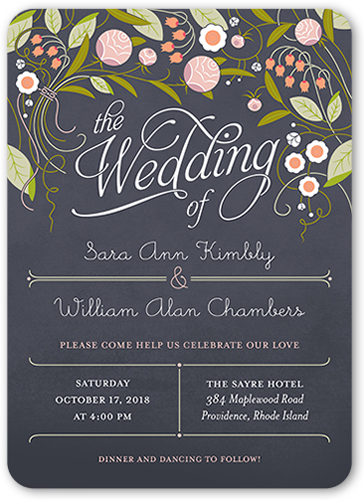 Forever Love Wedding Invitation, Rounded Corners