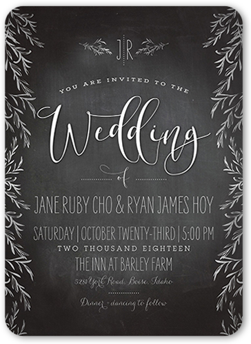 Shining Adoration Wedding Invitation, Rounded Corners