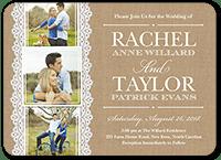 burlap and lace wedding invitation 5x7 flat