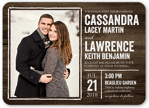 Rustic Enchantment Wedding Invitation, Rounded Corners