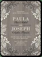 lovely wood wedding invitation 5x7 flat