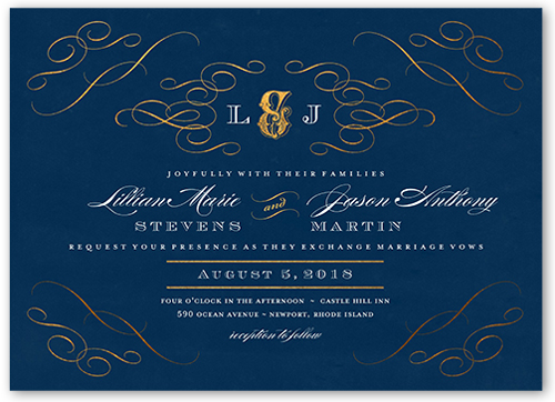 Royal Blue And Gold Wedding Invitations: Royal Blue And Gold Wedding Invitations