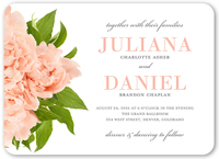 modern bouquet wedding invitation 5x7 flat