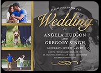 polished ceremony wedding invitation 5x7 flat