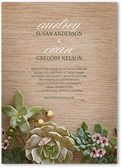 natural affection wedding invitation