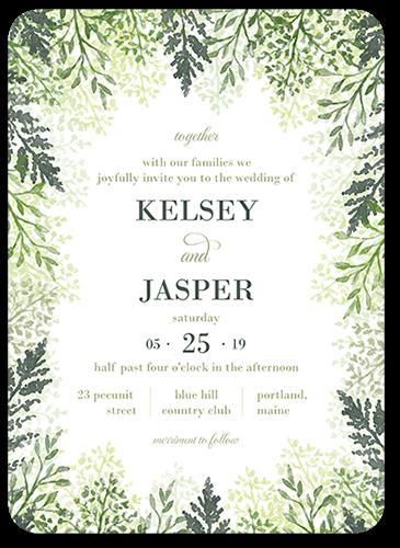 Graceful Lavender Wedding Invitation, Rounded Corners