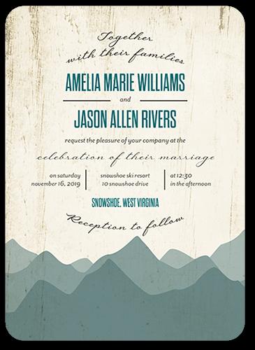 Rustic Horizon Wedding Invitation, Rounded Corners