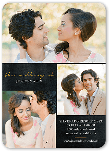 Exquisite Forever Wedding Invitation, Rounded Corners