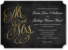 spectacular swirls wedding invitation 5x7 flat