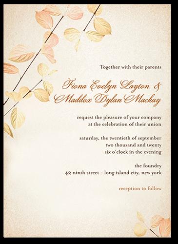 Delicate Ambiance Wedding Invitation, Square Corners
