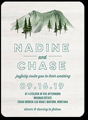 mountain nuptials wedding invitation