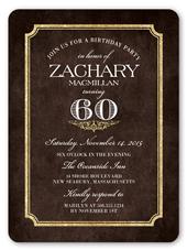 shining elegance birthday invitation 6x8 flat