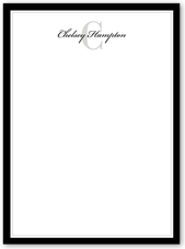 classic note thank you card 6x8 flat