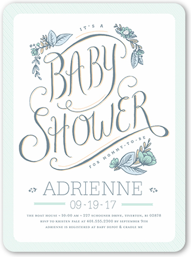 Darling Shower Boy Baby Shower Invitation, Rounded Corners