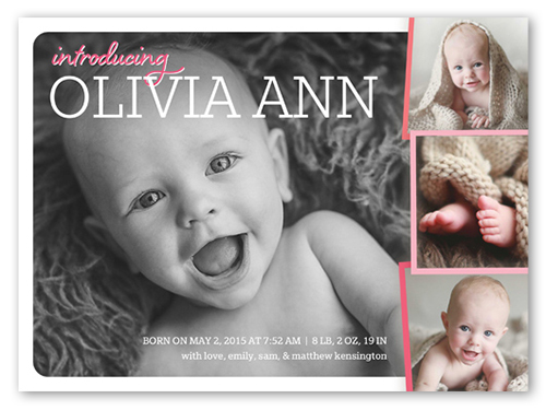 Whimsical Introduction Girl Birth Announcement