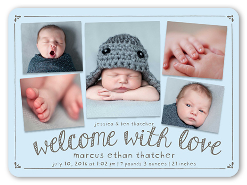 Bokeh Arrival Boy Birth Announcements – Boy Birth Announcement