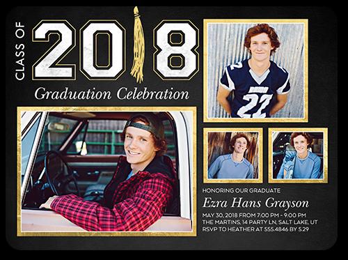 Phenomenal Grad Graduation Invitation, Rounded Corners