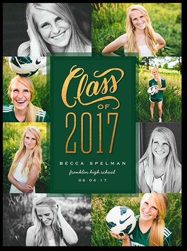 Memorable Class Collage Graduation Announcement