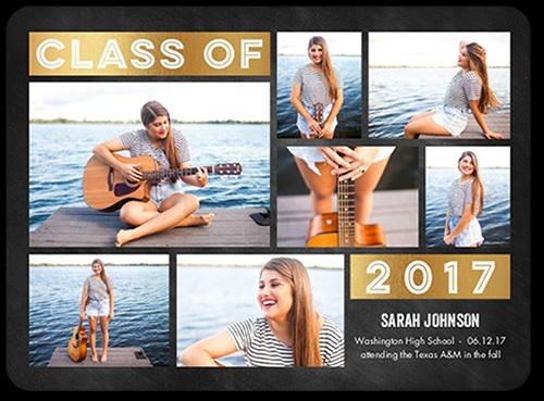 Simple Class Grad Graduation Announcement