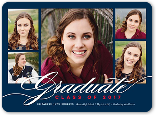 Simple Script Grad Graduation Announcement
