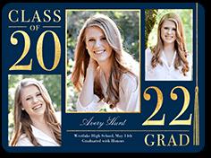 noble year graduation announcement 6x8 flat