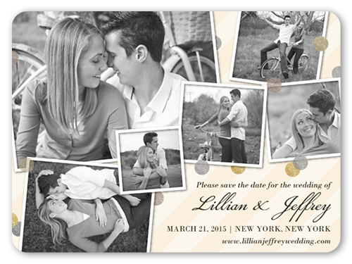 Floating Frames Save The Date, Rounded Corners
