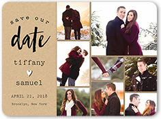 our journey save the date 6x8 flat