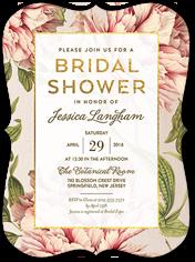 botanical dream bridal shower invitation 6x8 flat