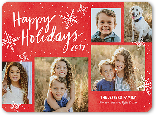 Speckled Flurries Holiday Card