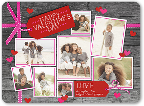 Tags Of Love Valentine's Card, Rounded Corners