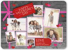 tags of love valentines card 6x8 flat
