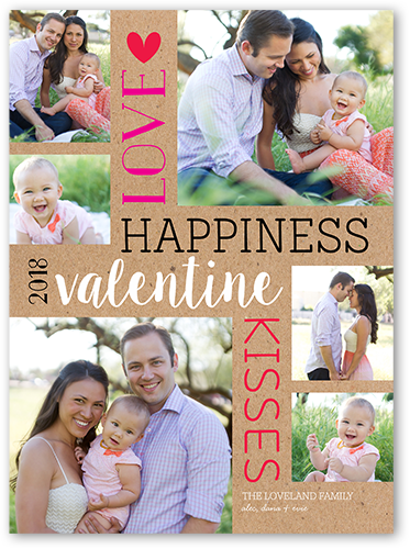 Vertical Love Valentine's Card, Square