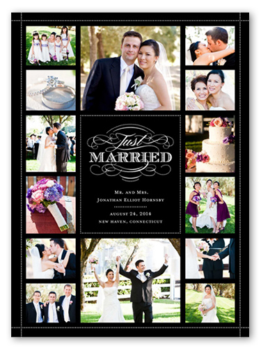 classic scroll collage 6x8 wedding announcements