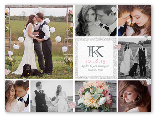 Diamond Collage Wedding Announcement