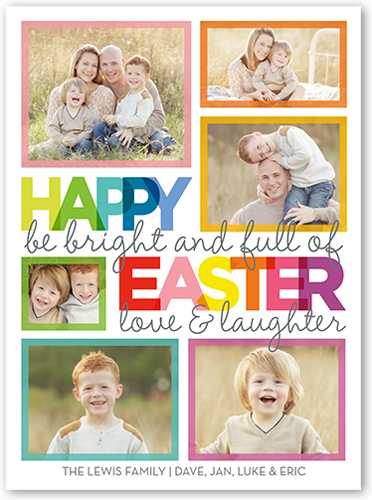 Whimsical Wishes Easter Card, Square Corners