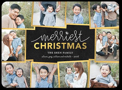 Merriest Gilded Frames Christmas Card